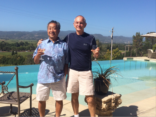 Kay Lee and John Nordeen in Napa Valley, 2015.
